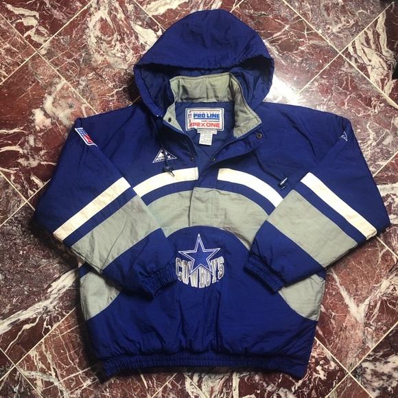 f378d5de9 Vintage Apex Dallas Cowboys Pullover Jacket. M 5c2f7fe79539f71ad32369db